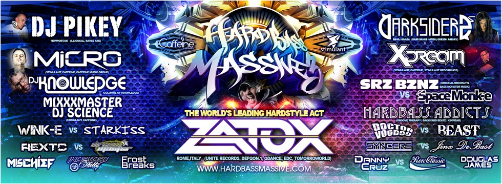 Caffeine and Stimulant Events present Hard Bass Massive 3
